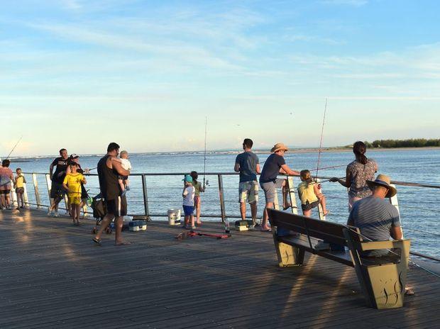 Enjoying an afternoon on Caloundra's boadwalk Photo: Jason Dougherty / Sunshine Coast Daily