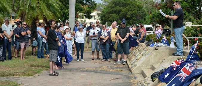 RECLAIM AUSTRALIA: Speakers at the Rockhampton Reclaim Australia Rally.