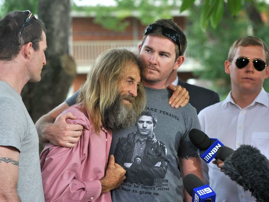 Press conference at the Grafton Police Station in April. Three sons are Josh, Zac and Eli with their Dad John Edwards.