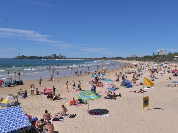 Mooloolaba Beach on Easter Monday. Photo: John McCutcheon / Sunshine Coast Daily