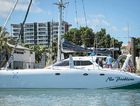 WE ARE HOME: Gladstone-owned and raced No Problem was the first local boat home in this year's Brisbane to Gladstone yacht race, finishing second in the multihull PCF handicap.