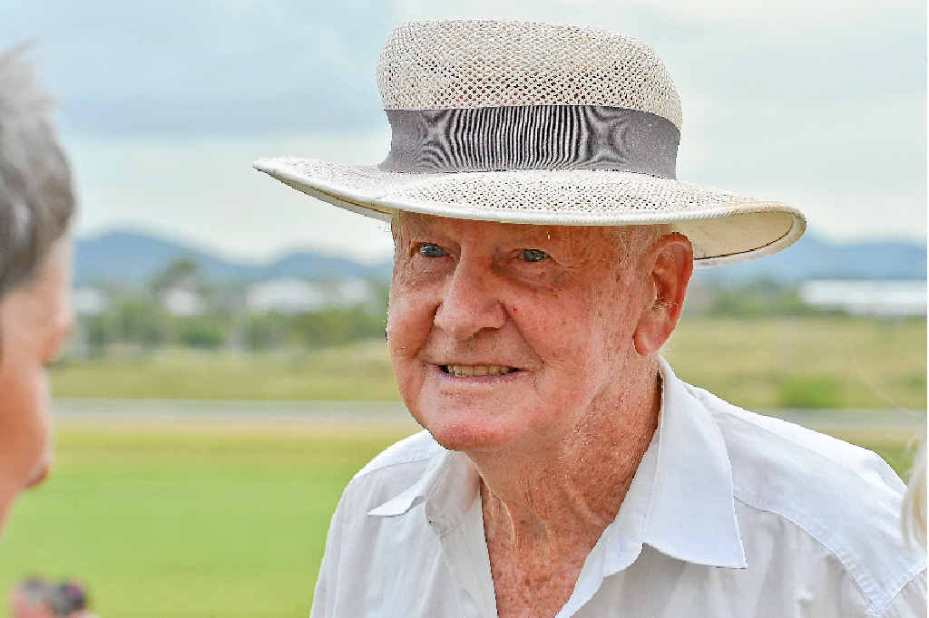 THANKS FOR THE MEMORIES: Jim Cole was at Ferguson Park on Saturday remembering his son, a former jockey Cameron who died recently. The Gladstone Turf Club staged a race in Cameron's honour and Jim presented the trophy.