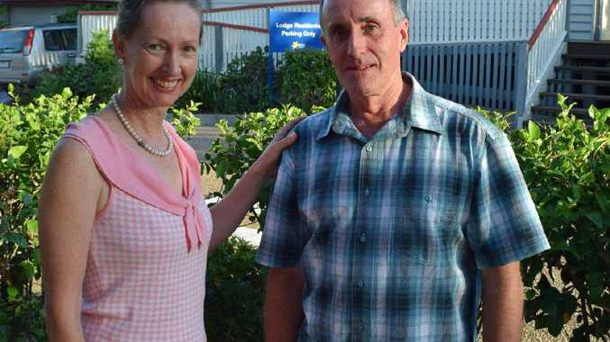 GREAT SUPPORT: Allied Health Cancer Care Team lymphoedema specialist Alice Hare and cancer survivor Ken Brown.