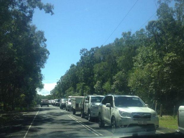Traffic Noosa North Shore 3pm