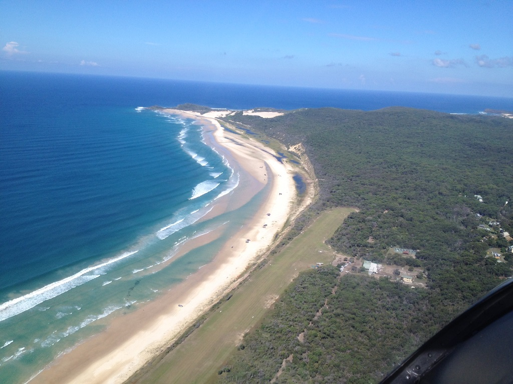 The Bundaberg-based RACQ CareFlight Rescue crew flew Orchid Beach to help a man who had fallen about 4m from a tree.