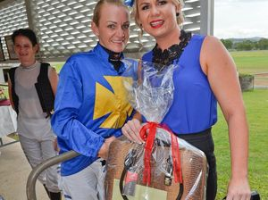 Amber wins fashion race as jockey inspires