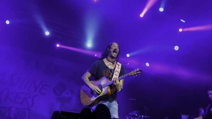 Michael Franti's Soulshine at Bluesfest. Photo : Mireille Merlet-Shaw/Northern Star
