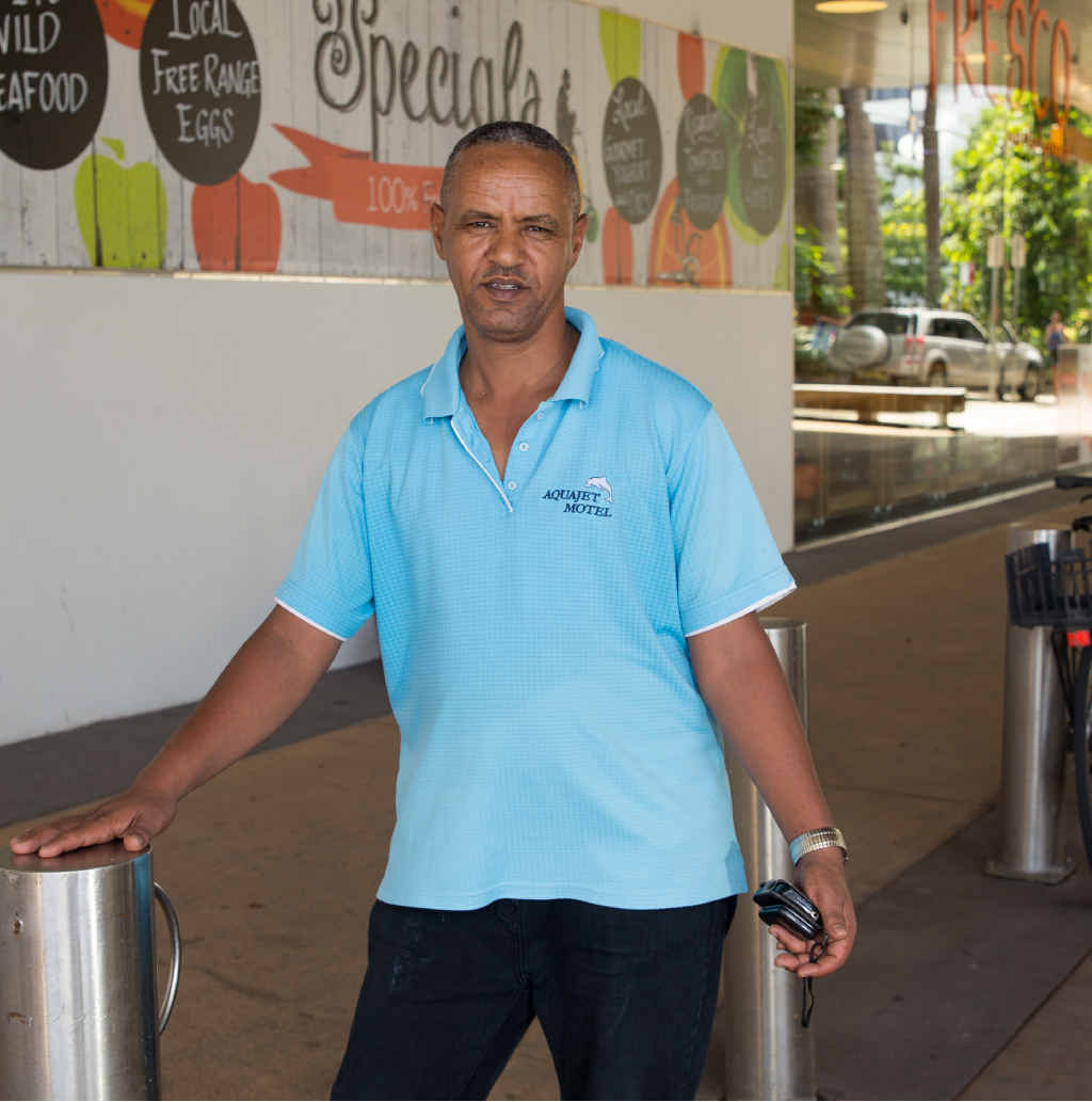 LOW ACT: Goitom Hidremichael, a refugee from Eritrea, had his locked bike stolen from Vernon St while he was at church. Can you help him? Email us editorial@coffscoastadvocate.com.au