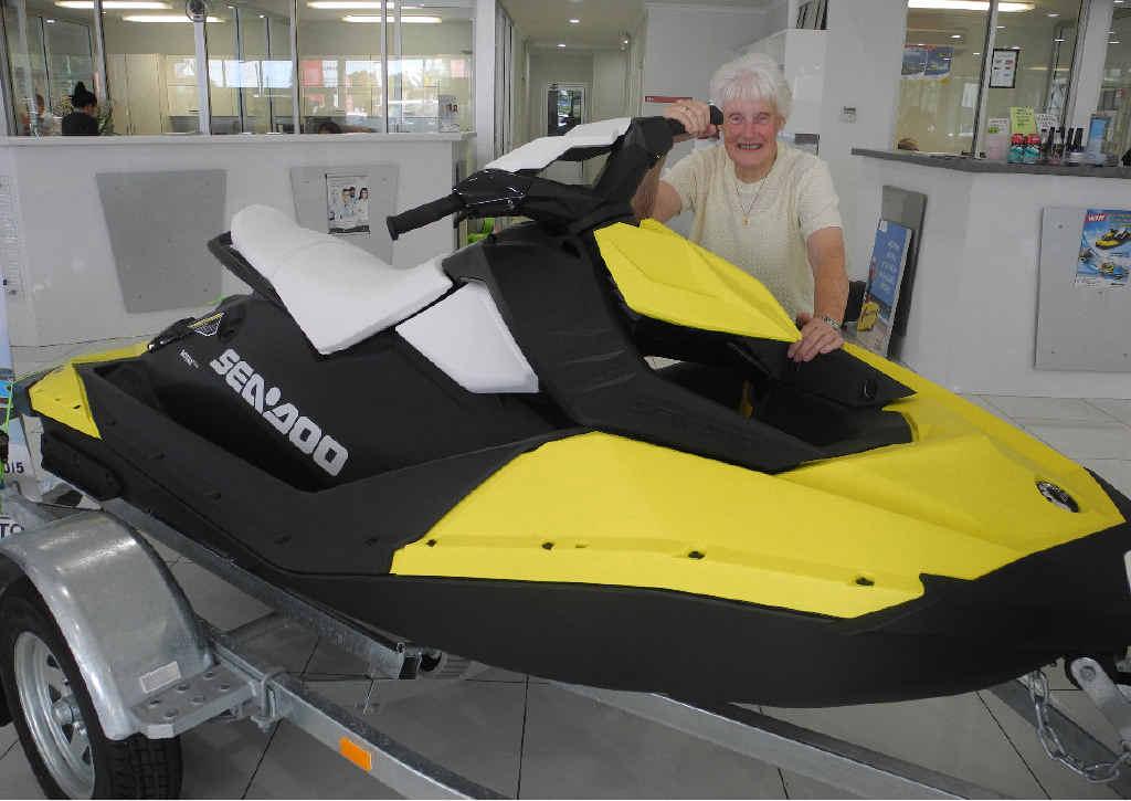 WINNER WINNER: Marianne Mingonie won a Sea-Doo jet ski in a Grafton Motor Group promotion.