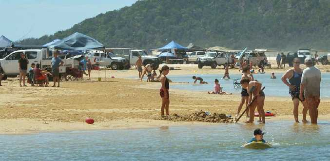 MORE TOILETS NEEDED: More than 2500 campers spent the Easter holidays on the beach north of Teewah with the only toilet facilities nearby inland off the beach at Freshwater.