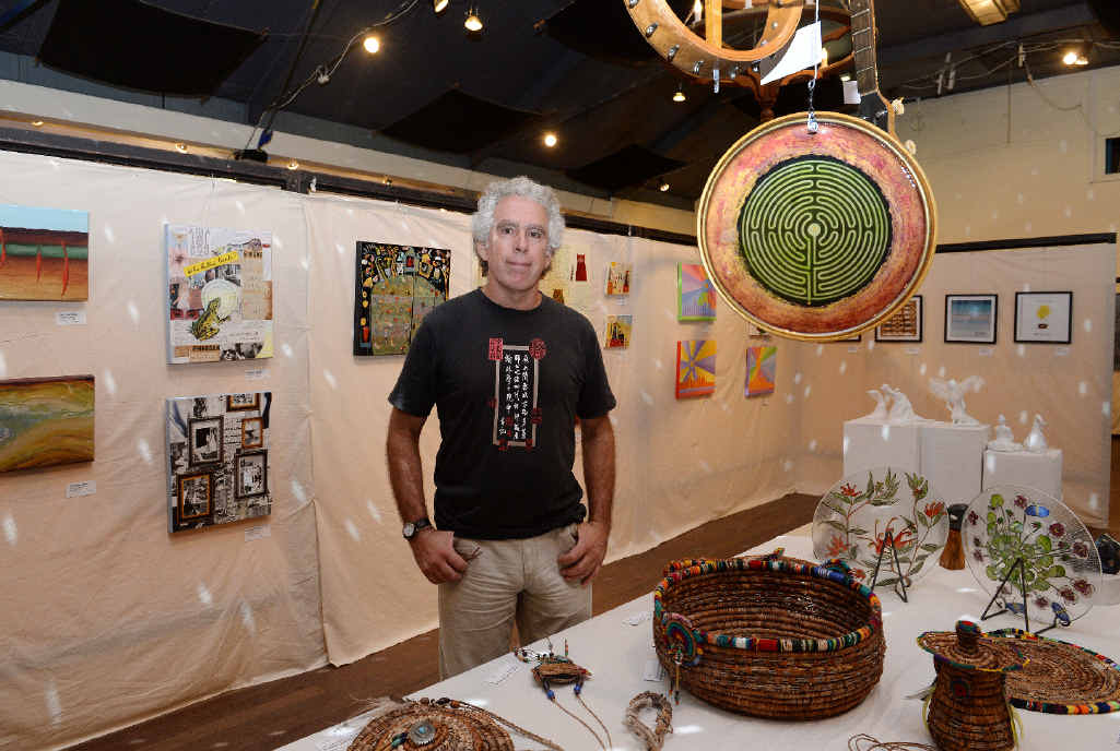 VARIETY ON SHOW: Peter Ptschelinzew, one of the organisers at the annual Nimbin Autumn Arts Extravaganza.