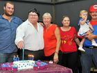 "BIRTHDAY FUN: Shane Brodie celebrated his 60th birthday on the weekend with a ""come dressed as something beginning with S"" party, seen here with son Mason, wife Julie, daughter Jess, granddaughter Paisley and son-in-law Craig, at the Meteors Sports Club."