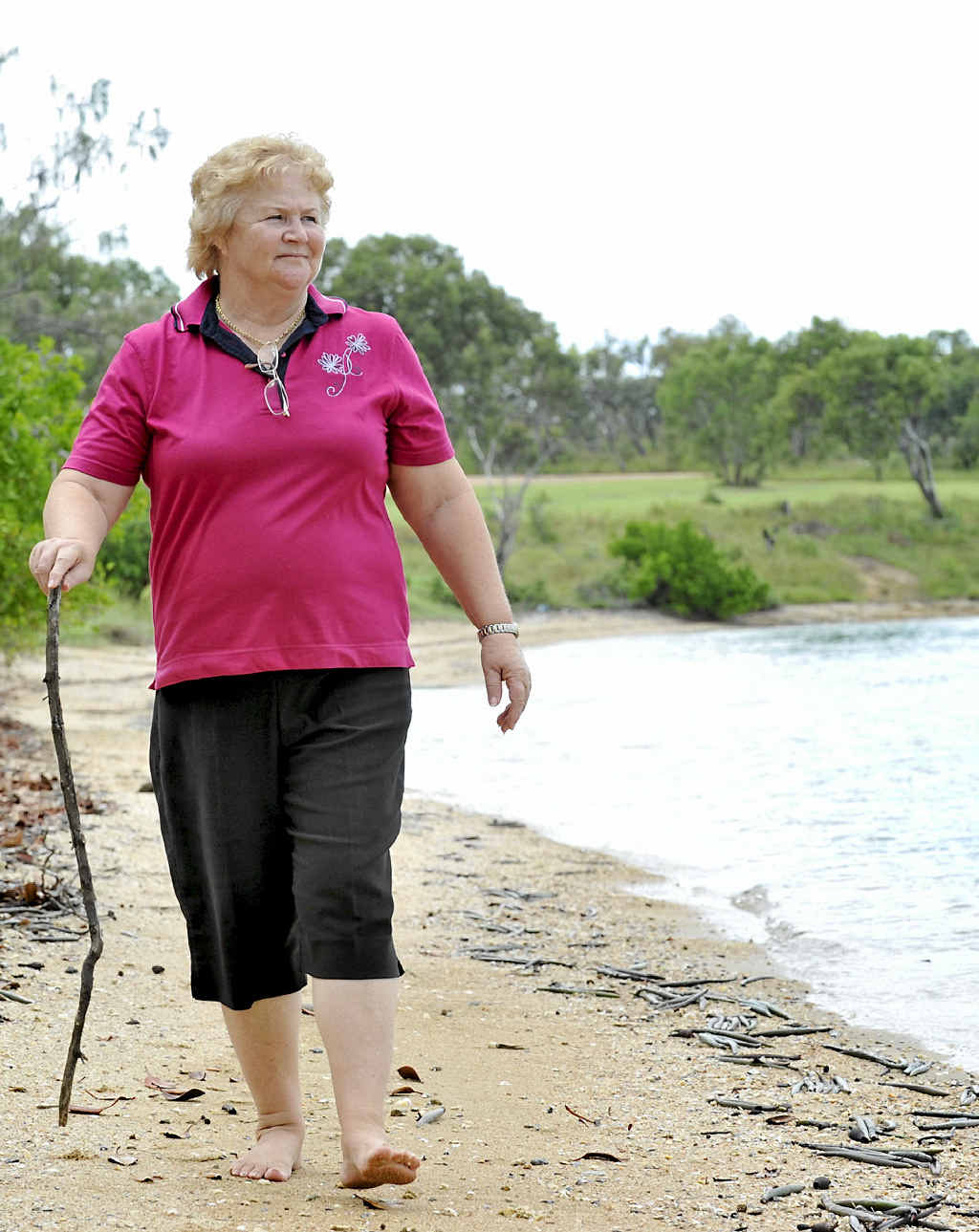 IMPACT CONCERN: Curtis Island resident of about 26 years, Cheryl Watson loves where she lives.