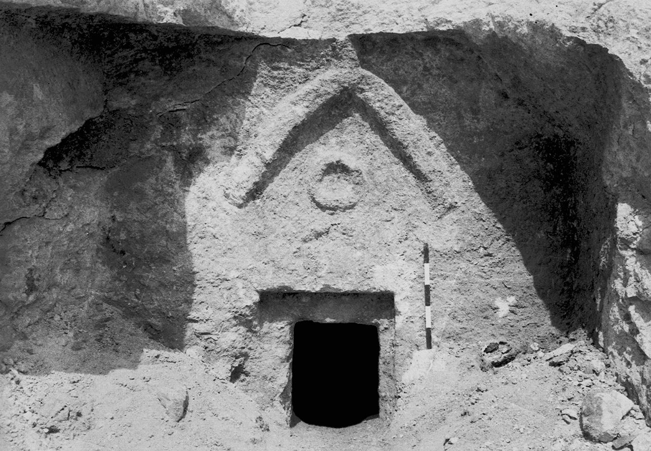 This photo provided by the Israeli Antiquities Authority shows the facade of the so-called 'Talpiot Tomb', where some believe Jesus of Nazareth and his family were buried