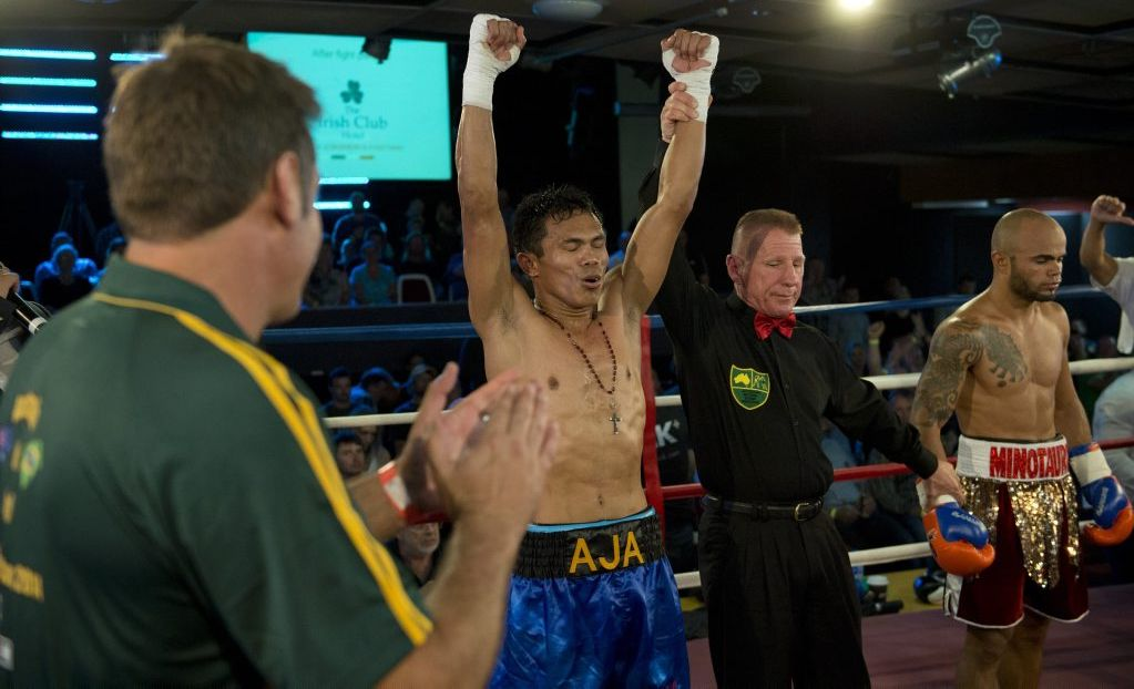 Jack Asis celebrates his latest win in Toowoomba last October.