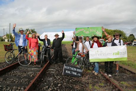 RAIL TRAILERS: Members of the Northern Rivers Rail Trail Group. Photo Contributed