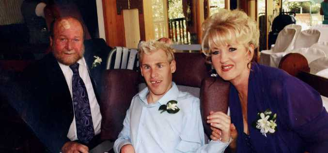 Julian Klass with his parents Lester and Marie. Ipswich Hospital and the medical and nursing boards have investigated the case.