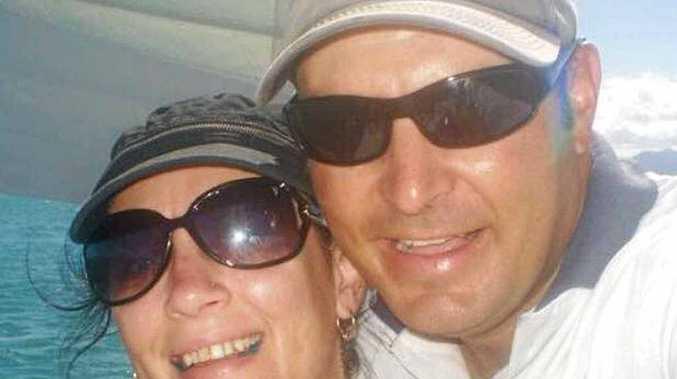 Simone and David Andersen. Mrs Andersen is in Brisbane with her husband.