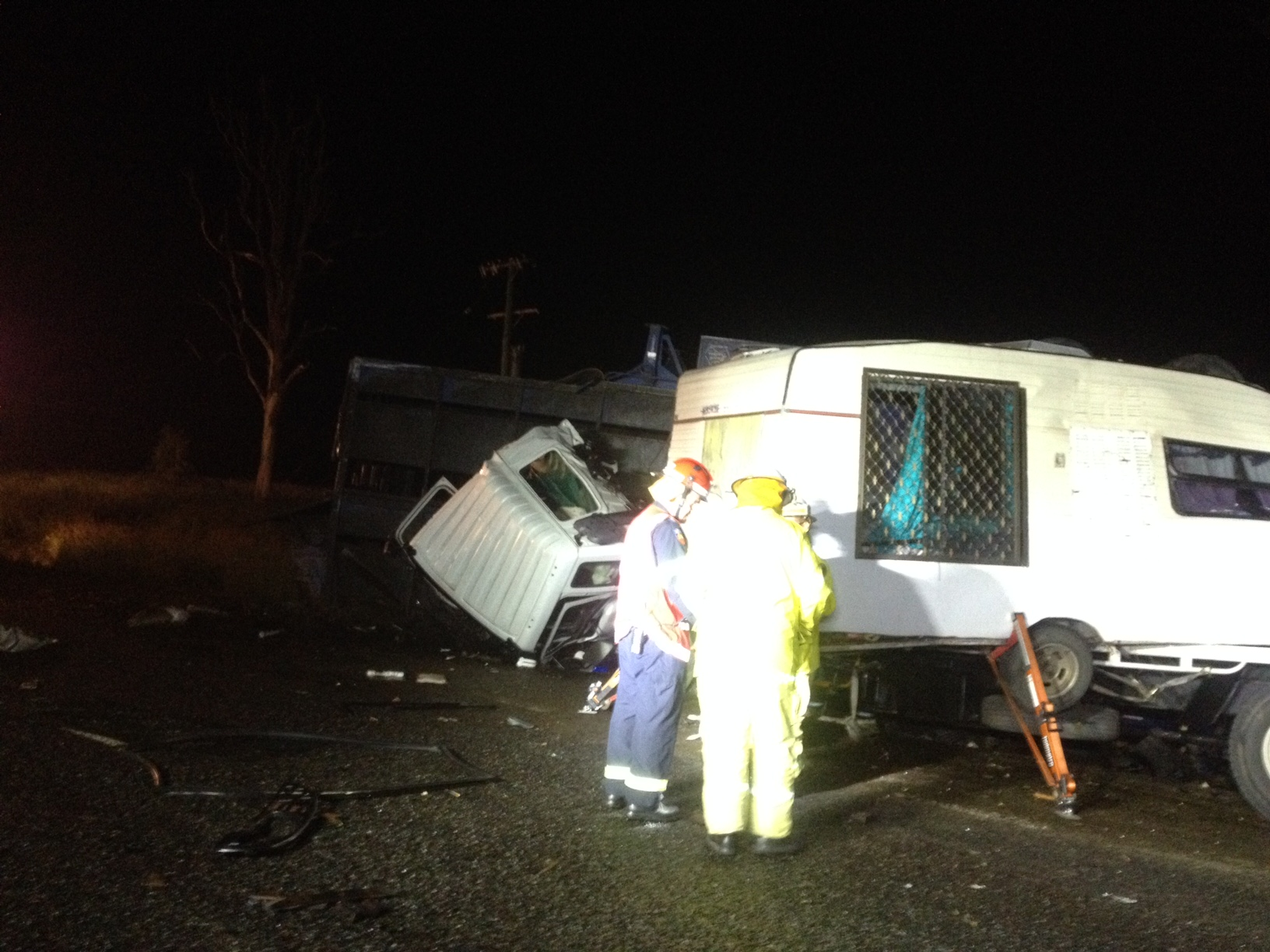 A FATAL two-truck crash north west of Gympie is being investigated by the Forensic Crash Unit.