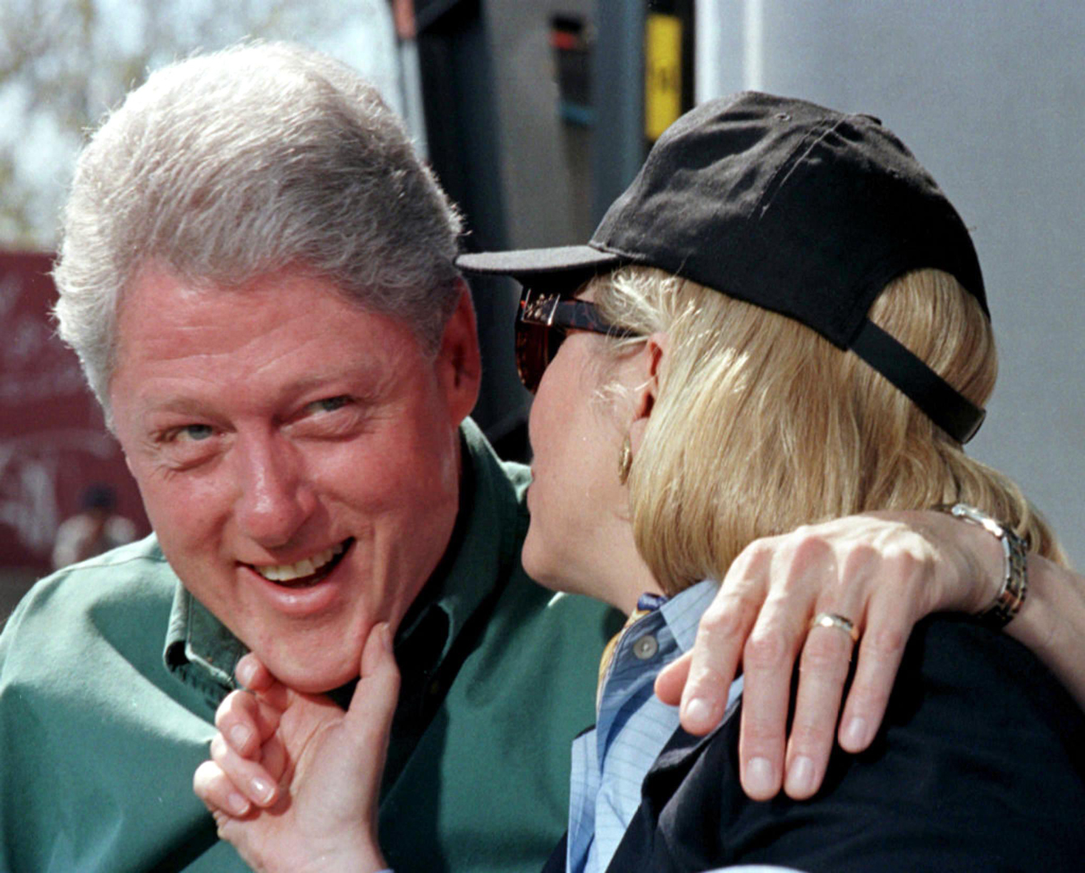 Former President Bill Clinton with likely presidential candidate and wife Hilary