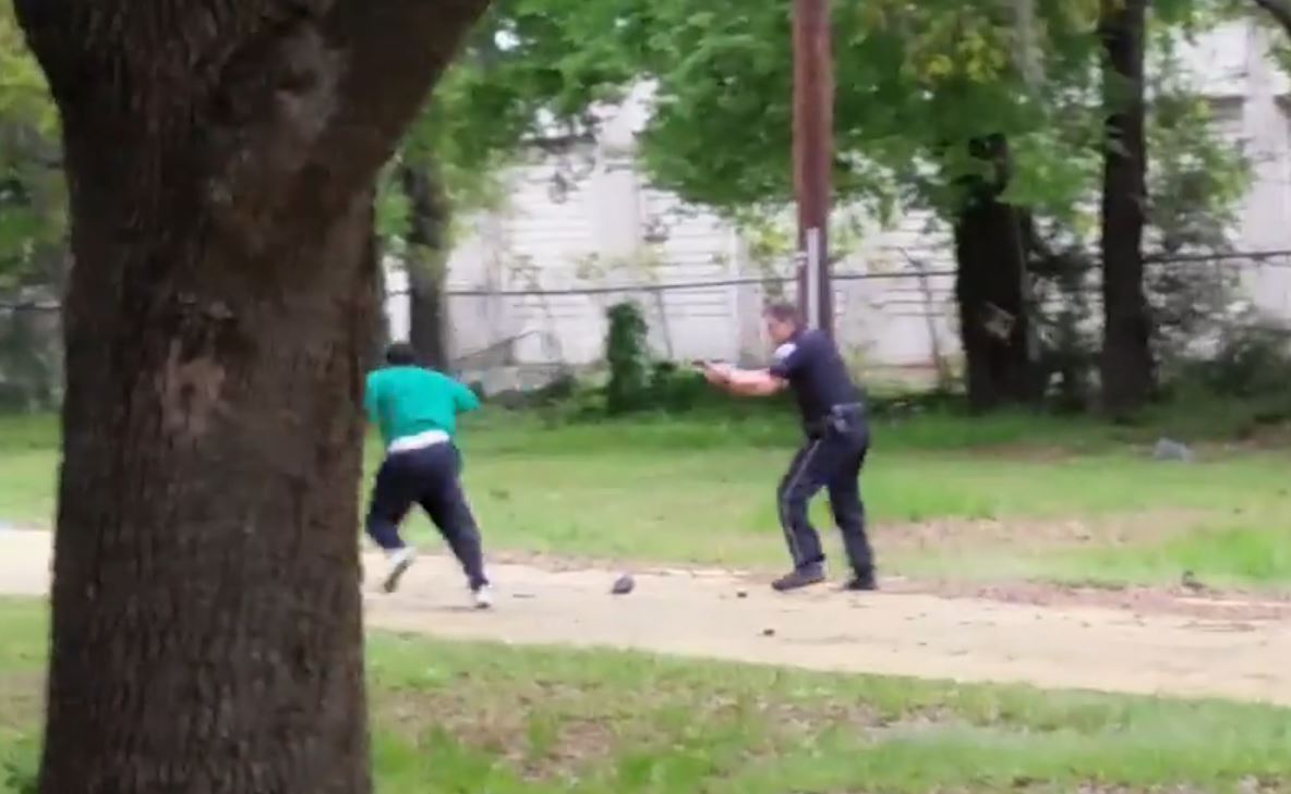 A video to the New York Times appears to show a police officer fatally shooting an unarmed black man.
