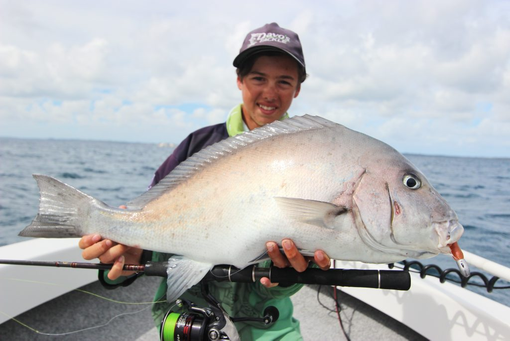 Bryce hooked this nice blackall while out on charter with Hervey Bay Fly and Sportfishing.