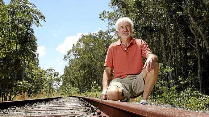 Northern Rivers Rail Trail group secretary Geoff Meers.