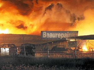 Fire tears through Central Queensland tyre business