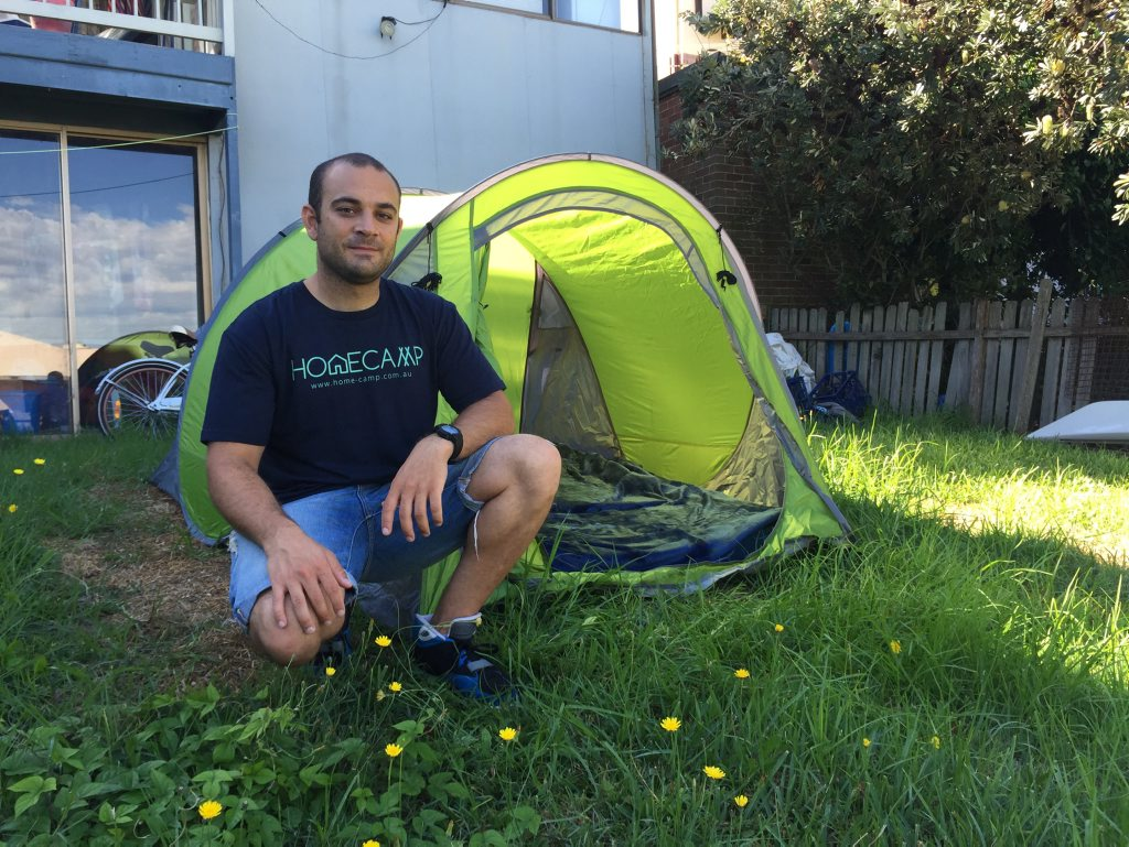 GREAT OUTDOORS: Homecamp founder David Abitbol. Photo Contributed