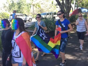 Gay mum marches on PM lunch for marriage equality