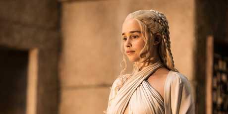 Emilia Clarke as Daenerys Targaryen in season five of Game of Thrones.