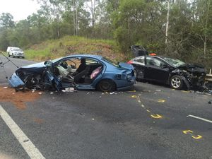 A crash on the Bruce Hwy has left a woman in a critical condition