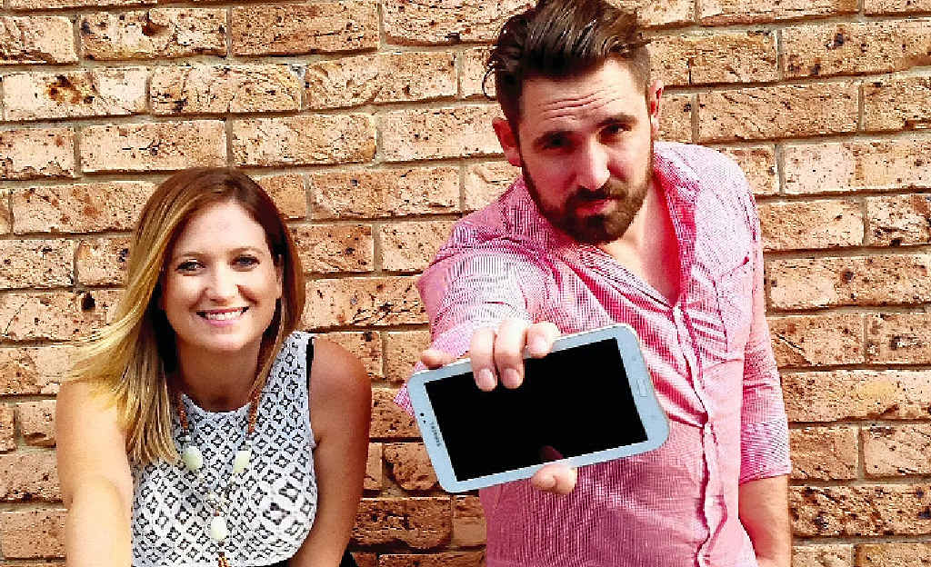 HIGH HOPES: Marianne McAllister and Adam Little are ready to take on the world with the FlingMonster game.
