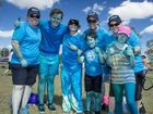 Colleen Tribe, Hamish and Lisa McDermott, Tina and Tristan Burge, 6, Shahara and Ellie Emmerton, 9. - PCYC Rainbow Run held at Mt. Larcom show grounds. Photo: Paul Braven / The Observer