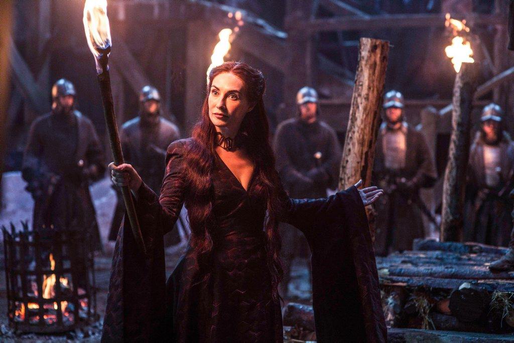 Carice Van Houten as Melisandre in Game of Thrones.