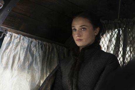 Sophie Turner as Sansa Stark in the TV series Game of Thrones.
