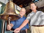 Peter Olds (CEO Olds Engineering) and museum director John Meyers were excited to accept the replica Maheno bell presented to the Maryborough Military & Colonial Museum.