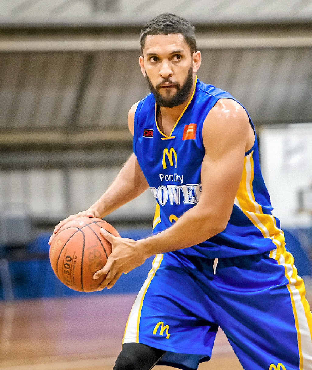 POWERING UP: Michael Cedar played a pre-season debut match for the Port City Power, pipping his brothers Mackay team 87-80.