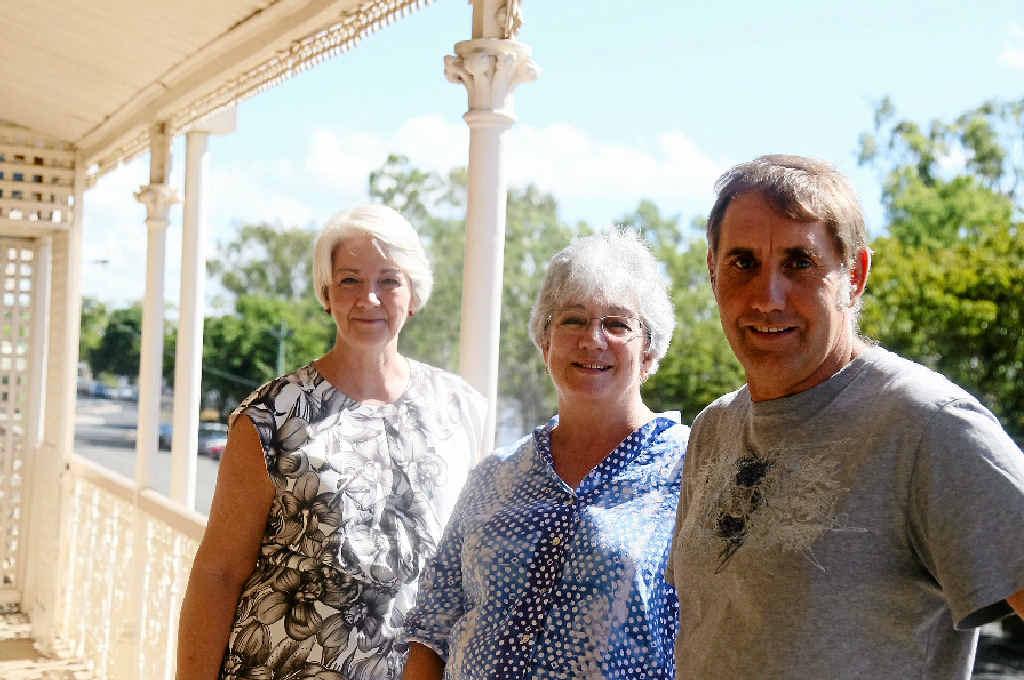 TIME WARP: Mayor Margaret Strelow visits the revitalised riverfront heritage home of Laurel and Geoff Bowen.