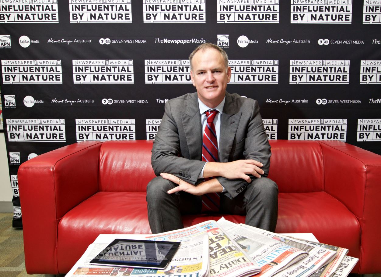 APN News & Media chief executive officer and The Newspaper Works chairman Michael Miller is championing the Influential by Nature campaign alongside News Corp Australia, Fairfax Media and Seven West Media
