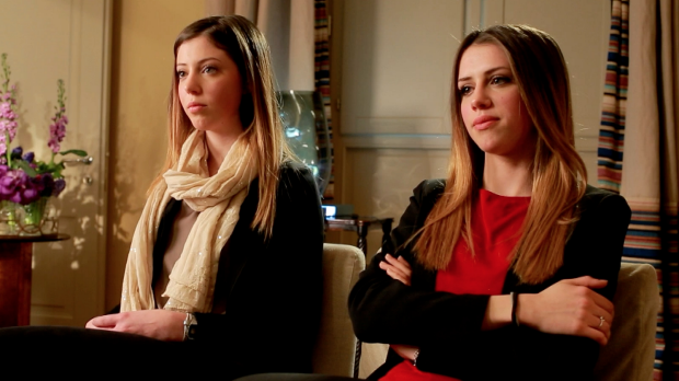 Claire and Emily Vincenti, two of the four Italian sisters at the centre of a custody battle talk to 60 Minutes. Photo: 60 Minutes