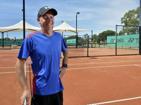 Leon Glinster at the George Alder Tennis Centre which will be undergoing an upgrade. Photo Inga Williams / The Queensland Times