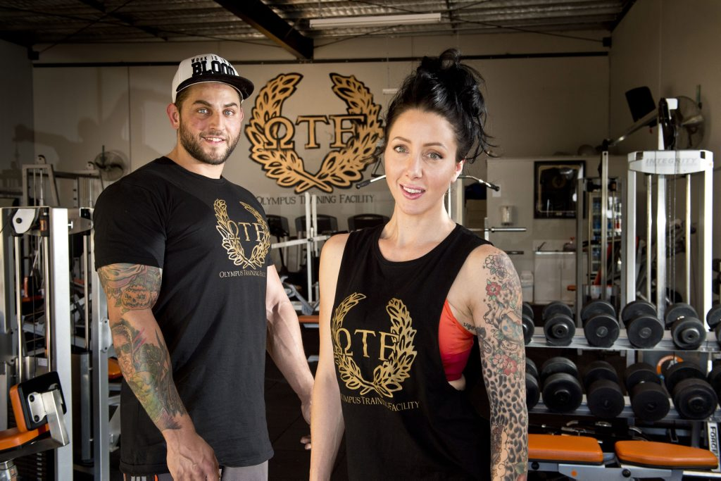 HEALTHY LIVING: Ryan Nawrotzky and Nerida Petrides, owners of Olympus Training Facility . Thursday, Apr 09 , 2015 . Photo Nev Madsen / The Chronicle