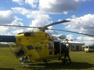 Man airlifted after being stepped on by cow
