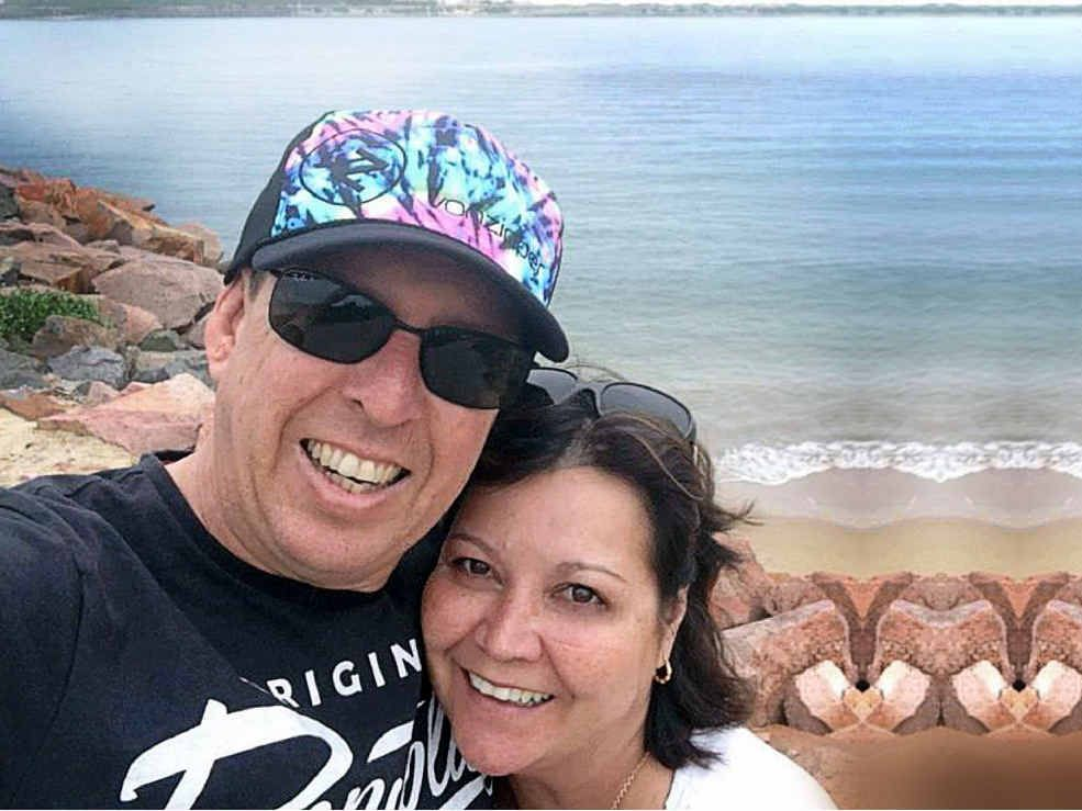 Teresa and Alan Swarbrick. Teresa died while snorkelling at Byron Bay.