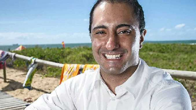 LOVING IT: Gladstone's newest and youngest councillor, Poya John Sobhanian loves the serenity at Tannum Sands Beach.