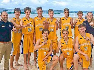 U16 basketball team unbeaten at state titles