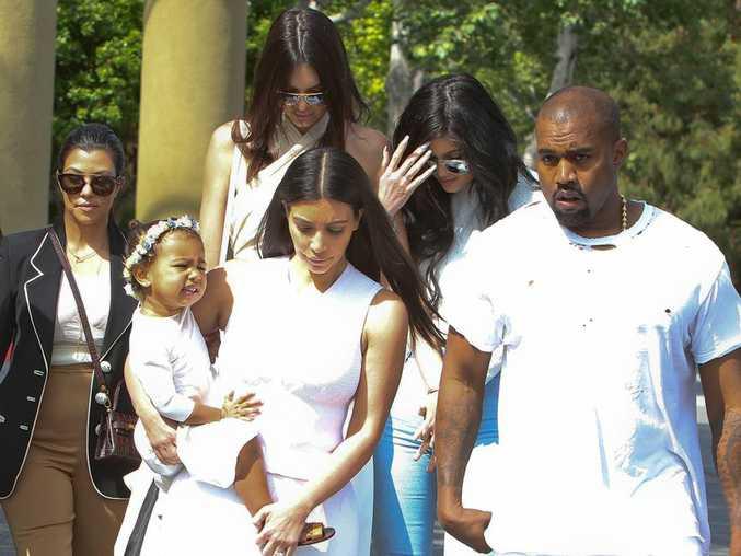 Kim Kardashian West, Kanye and North West