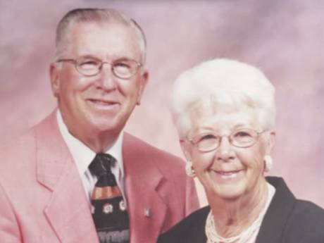 Died within five minutes of each other in separate nursing homes after 73 years of marriage.