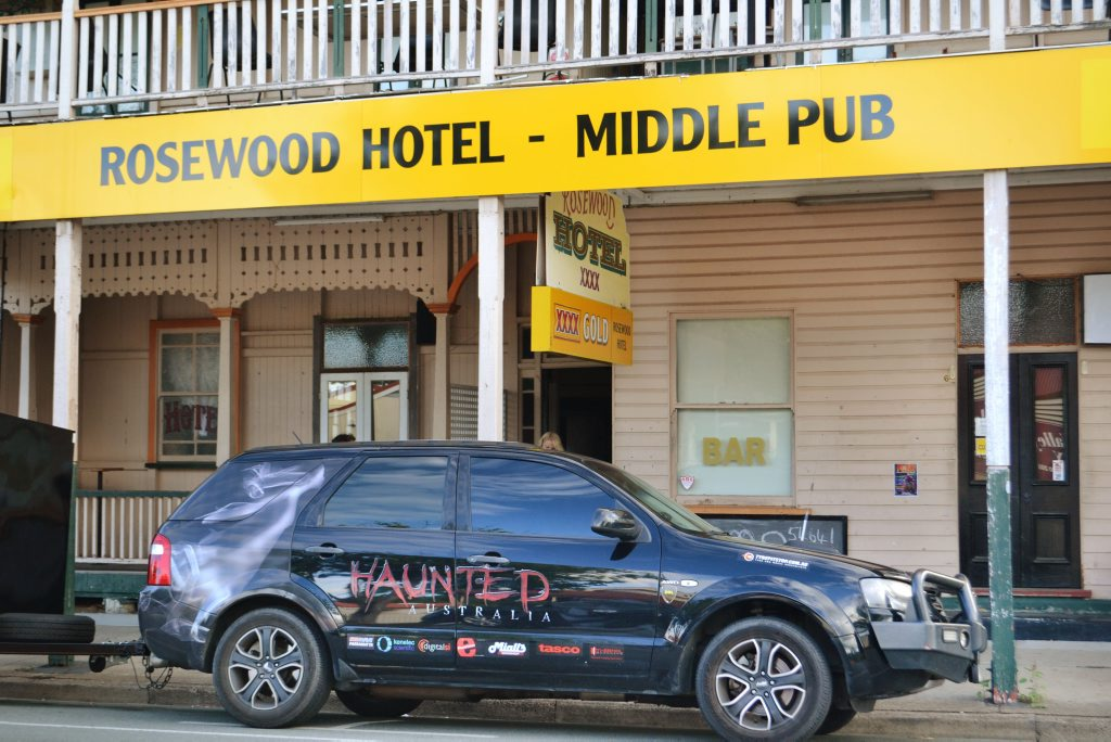 SPIRITED SEARCH: Crews from Haunted Australia have visited the Rosewood Hotel again in search of ghosts.